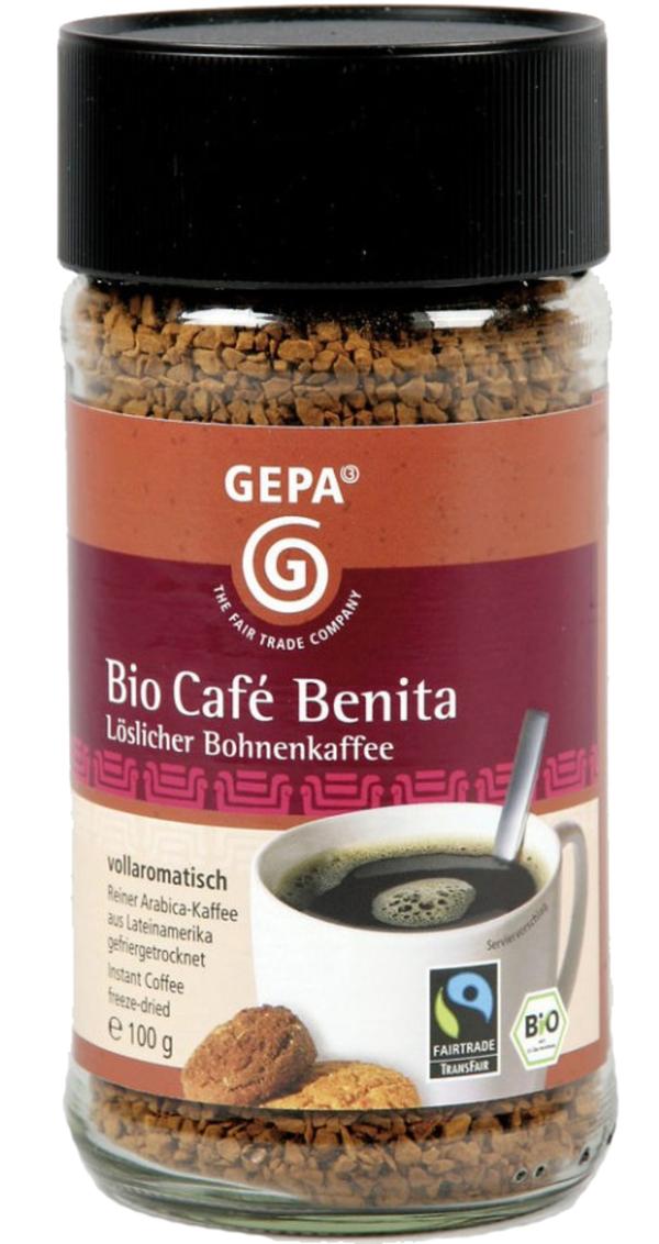 GEPA Fairtrade Bio Instant Café Benita 100 g