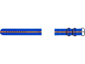 SAMSUNG Strap Studio Premium Nato Ersatzarmband Blau/Orange