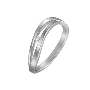 CHRIST Silver Diamonds Damenring 86252317