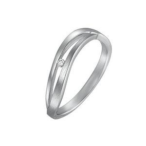 CHRIST Silver Diamonds Damenring 87471659