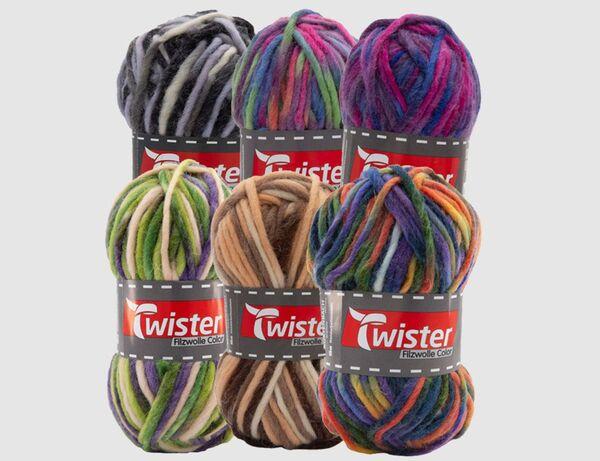 Filzwolle Twister Uni Color