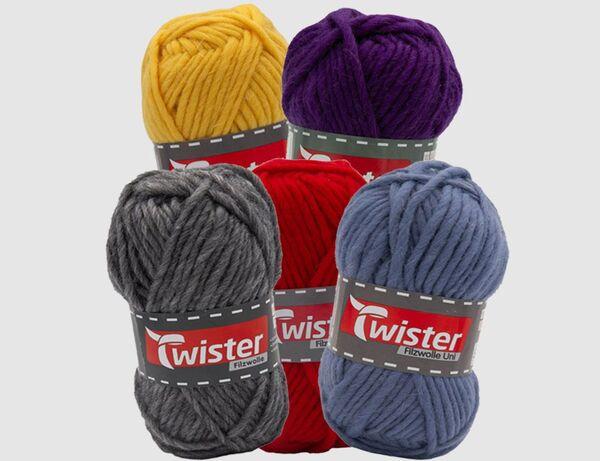 Filzwolle Twister Uni