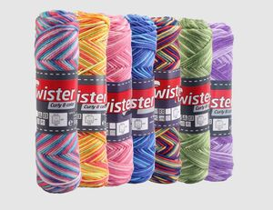 Topflappengarn Twister Curly Color