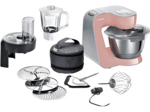 BOSCH MUM58NP60 Creationline Premium Küchenmaschine, 1000 Watt in Rosa/Silber