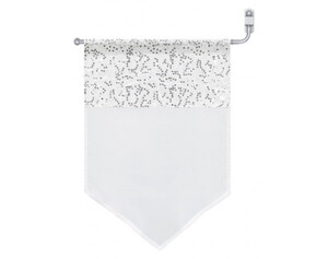 Scheibengardine Pailletten, weiß, ca. 40 x 60 cm