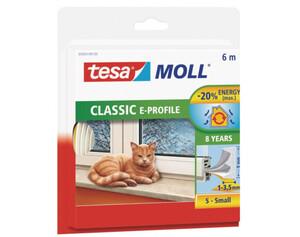 tesamoll® E-Profil-Gummidichtung ca. 6 m x 9 mm x 4 mm weiß
