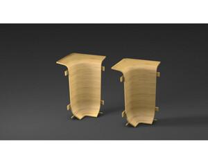 Innenecken für Kabelkanal-Sockelleiste, Buche, ca. 6 cm hoch