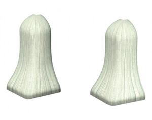 Außenecken für Laminatleisten, Eiche Nordpol, ca. 40 mm hoch