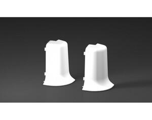 Außenecken für Kabelkanal-Sockelleisten, weiß, ca. 6 cm hoch