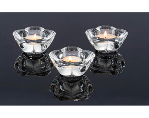 Teelichthalter 3er-Set Glas