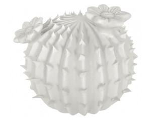 Deko-Kaktus ø ca. 9cm weiß