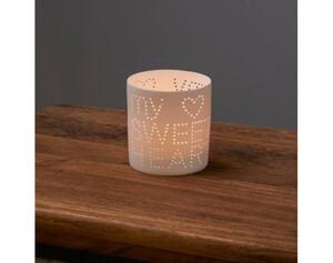 Teelichthalter Porzellan Sweatheart ø ca. 8cm, Höhe ca. 9cm