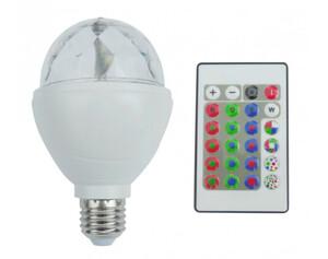 LED-Discoleuchtmittel rotierend Farbwechsel mit Fernbedienung