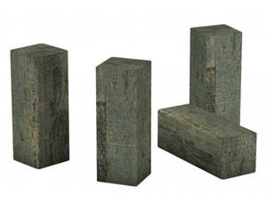 Eckstäbchen für Laminat-Sockelleiste Eiche bronze braun ca. 22 x 22 x 60 mm