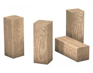 Eckstäbchen für Laminat-Sockelleiste Eiche Elegance ca. 22 x 22 x 60 mm