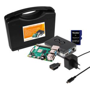 Raspberry Pi 4 B 2GB Advanced Bundle Koffer [Raspberry PI 4, Gehäuse, Netzteil, HDMI Adapter, Micro SD Karte + Betriebssystem]