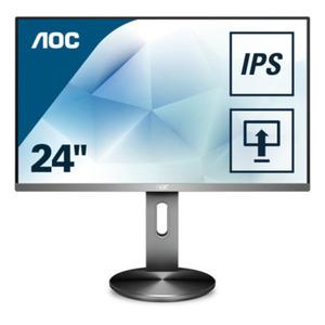 AOC I2490PXQU/BT - 60.5 cm (23,8 Zoll), IPS, Höhenverstellung, Pivot, Lautsprecher, DisplayPort