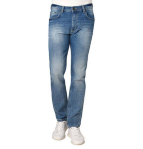 Bugatti Jeans, Regular Fit, Waschung, Falten-Optik, Stickerei, Stretch