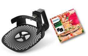 Philips Backeinsatz HD9953/00 Pizzablech, Zubehör für Airfryer XXL: HD963X, HD965X, HD975X und HD976X