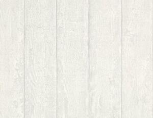 Papiertapete Holz weiß