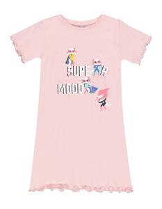 Mädchen Nachthemd mit Muschelsaum