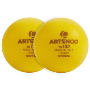 Tennisball TB100 9cm ×2 Schaumstoff gelb