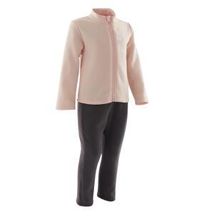 Trainingsanzug Warmy Zip 100 Babyturnen rosa