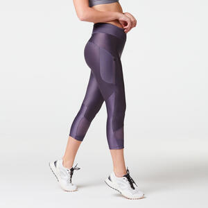 Laufhose 3/4 Tights Run Dry+ Feel Damen violett
