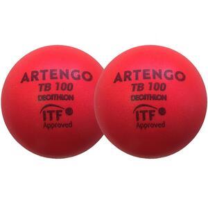 Tennisball TB100 9cm ×2 Schaumstoff rot