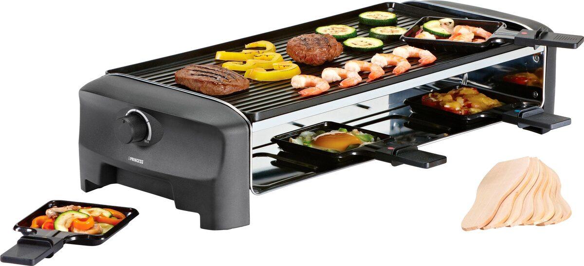 Bild 1 von PRINCESS Raclette 8 Grill & Teppanyaki Party - 162840, 8 Raclettepfännchen, 1300 W