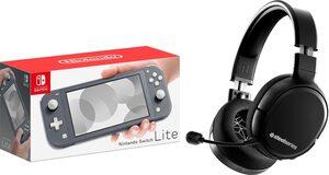 Nintendo Switch Lite, inkl. Steelseries Arctis 1 Wireless WiFi Headset (2,4GHz verlustfrei)