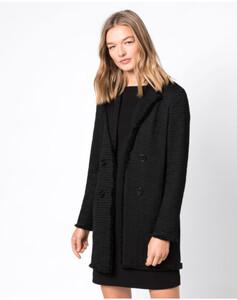 Hallhuber Bouclé-Jacke für Damen in schwarz