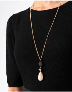 Hallhuber Halskette mit Steinanhänger für Damen Gr. One Size in gold