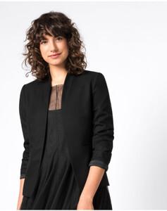 Hallhuber Blazerjacke mit Paspeltaschen für Damen in schwarz
