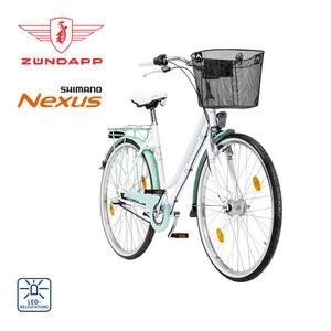 Citybike Red 2.0 26er oder 28er - Shimano Drehgriffschalter - Alu-V-Bremse vorne, Rücktrittbremse - Rahmenhöhe: 46 cm (26er) 52 cm (28er)