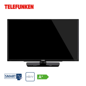 D39F502N4CW • FullHD-TV • 3 x HDMI, 2 x USB, CI+ • integr. Kabel-, Sat- und DVB-T2-Receiver • Maße: H 52,3 x B 88,9 x T 9,7 cm • Energie-Effizienz A+ (Spektrum A++ bis E), Bildschirmdiagon