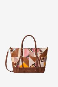 Tasche mit geometrischem Puzzle-Patch