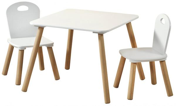 Kesper Kindertisch mit 2 Stühlen, weiß