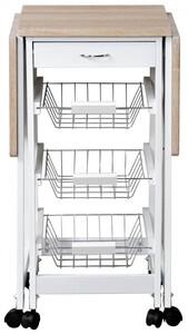 Kesper Küchenwagen - weiß, Sonoma Eiche