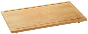 Kesper Schneide- und Abdeckplatte aus Bambus, 59 x 32 x 3 cm