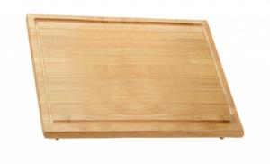 Kesper Schneide- und Abdeckplatte aus Bambus, 64 x 54 x 3 cm