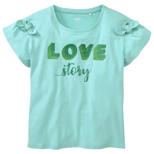 Mädchen T-Shirt mit Glitzer-Print