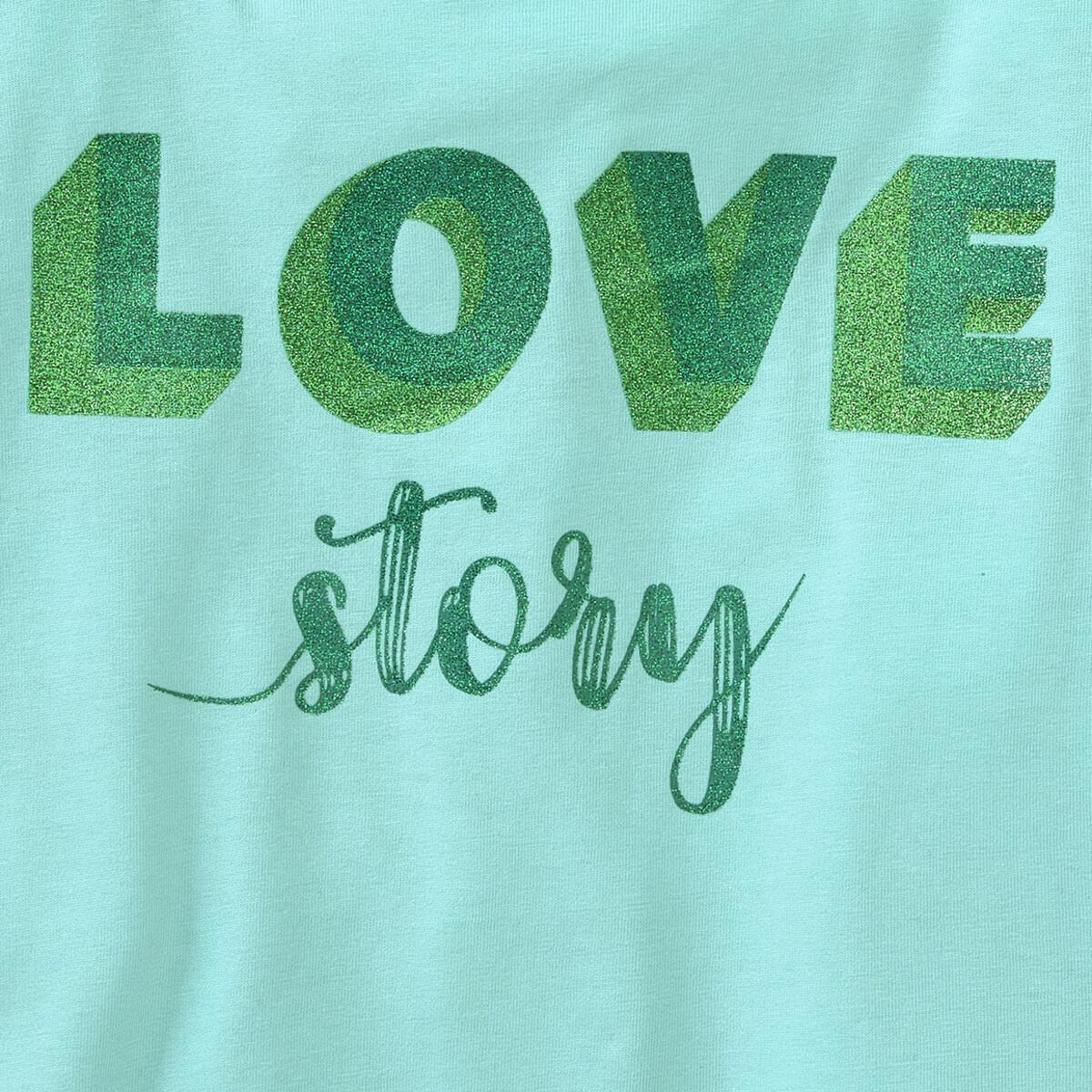 Bild 3 von Mädchen T-Shirt mit Glitzer-Print