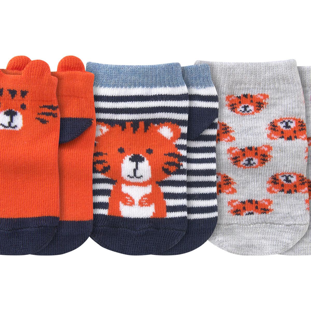 Bild 2 von 3 Paar Baby Sneaker-Socken mit Tiger-Motiv