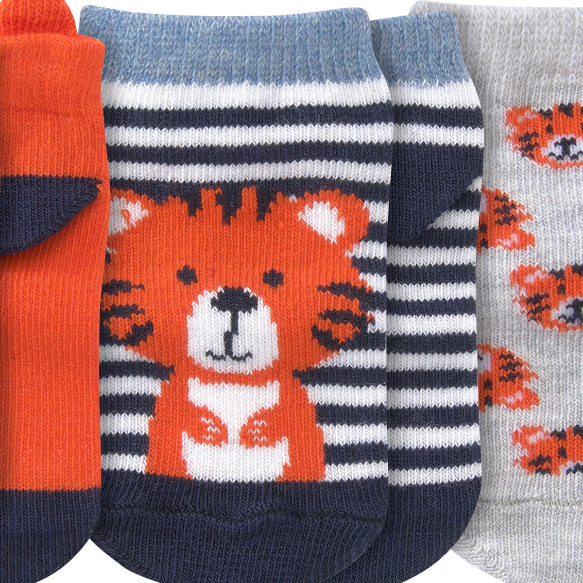 Bild 3 von 3 Paar Baby Sneaker-Socken mit Tiger-Motiv