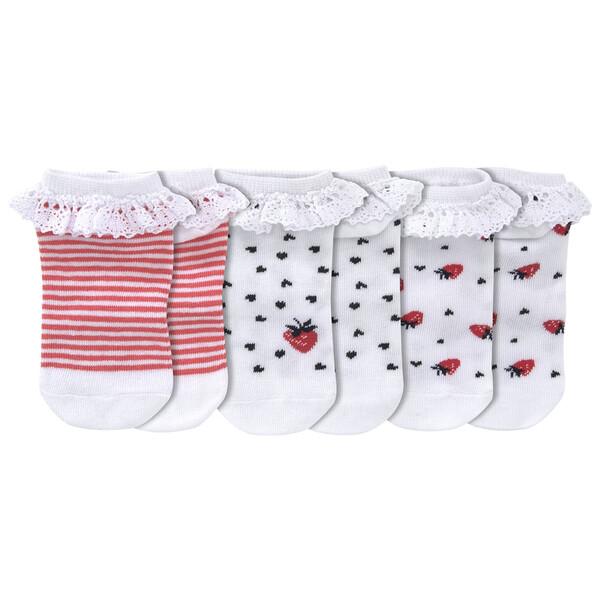 3 Paar Baby Sneaker-Socken mit Rüschen