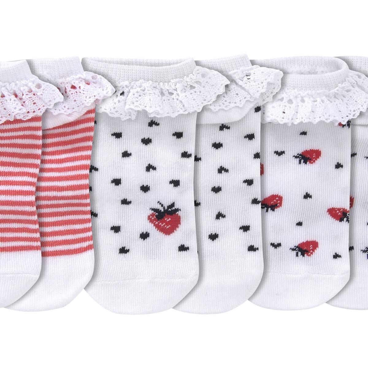 Bild 2 von 3 Paar Baby Sneaker-Socken mit Rüschen