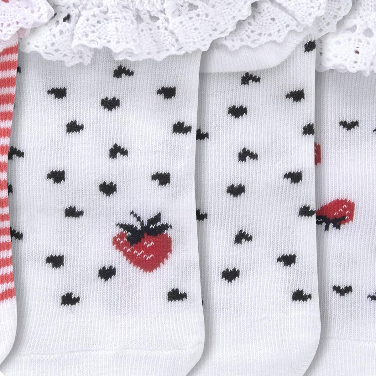Bild 3 von 3 Paar Baby Sneaker-Socken mit Rüschen