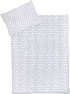 Kinderbettwäsche - Sterne - grau - 2-teilig