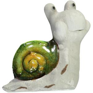 Schnecke aus Keramik, 11cm hoch